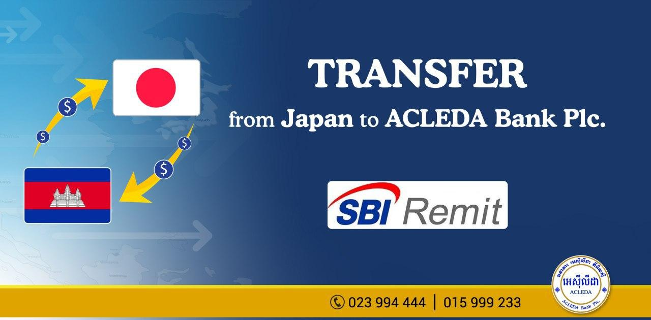 Sbi Remit Co Ltd Tie Up Business With Acleda Bank Plc For Remittance Cooperation Service